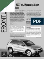 Front Line- RDX vs. Mercedes GLK Class