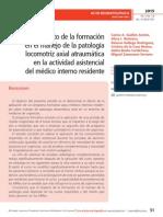 Impacto de la formación en el manejo de la patología locomotriz axial atraumática en la actividad asistencial del médico interno residente