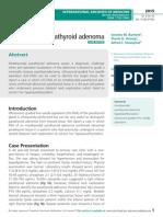 Intrathyroidal parathyroid adenoma
