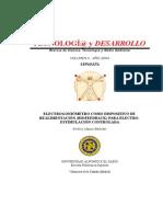 Electrogoniometro Como Dispositivo de Realimentacion Biofeedbak