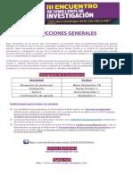 Instrucciones Generales 3er Encuentro Semilleros de investigación 2015