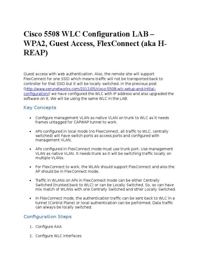 Cisco 5508 WLC Configuration LAB | Wireless Lan | Radius