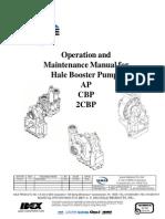 029-0020!53!0-A Booster Pumps - Operation & Maintenance Manual for AP, CBP, 2CBP
