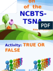 Enhancing the Implementation of NCBTS