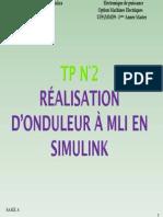 TP realisation Onduleur MLI simulink