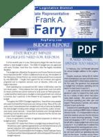 Farry Spring 2010 Budget Report