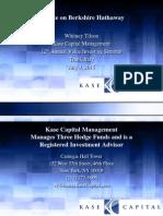 Update on Berkshire Hathaway-Whitney Tilson-Kase Capital-Italy-7!9!15