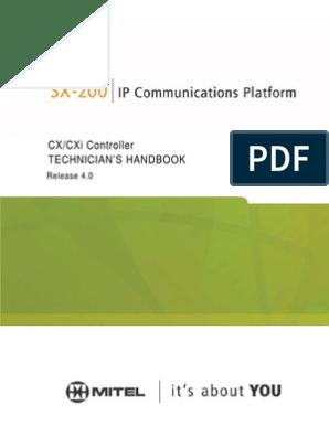 Mitel SX-200 Technician's Handbook/Service Manual   Ip Address