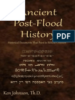 Ancient Post Flood History-   Johnson Ken