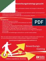 Ausschreibung TeamerInnen Bewerbungstraining