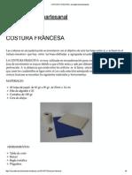 COSTURA FRANCESA _ Encuadernación