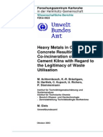 Heavy Metals in Cement and Concrete Resulting From the Co-Incineration of Wastes