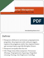 Materi Pengantar Manajemen