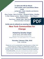 New York Communities for Change Invite