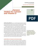 Vitamin D and Calcium 2010 Report Brief