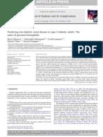 Papel de Hemoglobina Glicocilada en Enfermedad Renal No Diabetica en Diabeticos