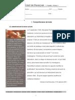 Contrôle 4 -Decouvertes Et Inventions_9annee_niv3