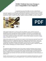 Stampante EPSON SX400. Problemi Successo Stampa A Causa Vittoria Cartucce Compatibili E Non Originali?