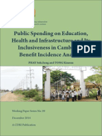 cdri 2014 WP 99 Public Spending on Education, Health and Infrastructure and Its Inclusiveness in Cambodia.pdf