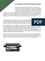Cartucce Ricaricabili Autoreset Vuote Per Stampanti Epson.