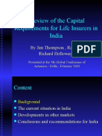 A Review of the Capital Requirements for Life Insurers in India.ppt