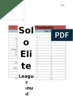Solo Elite League Manual