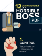 12 Caracteristicas de Un Horrible Jefe