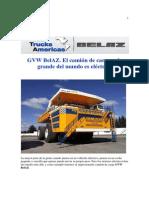 GVW BelAZ El Camion Mas Grande