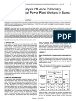Risk Factors Analysis Influence Pulmonary Function of Diesel Power Plant Workers in Sama Rinda City