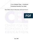 The Effective Use of Student Time a Stochastic Frontier Production Function Case Study