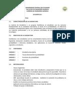 Sílabo Estadística i (20150406)