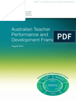 australian teacher performance and development framework august 2012