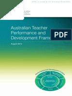 australian teacher performance and development framework august 2012