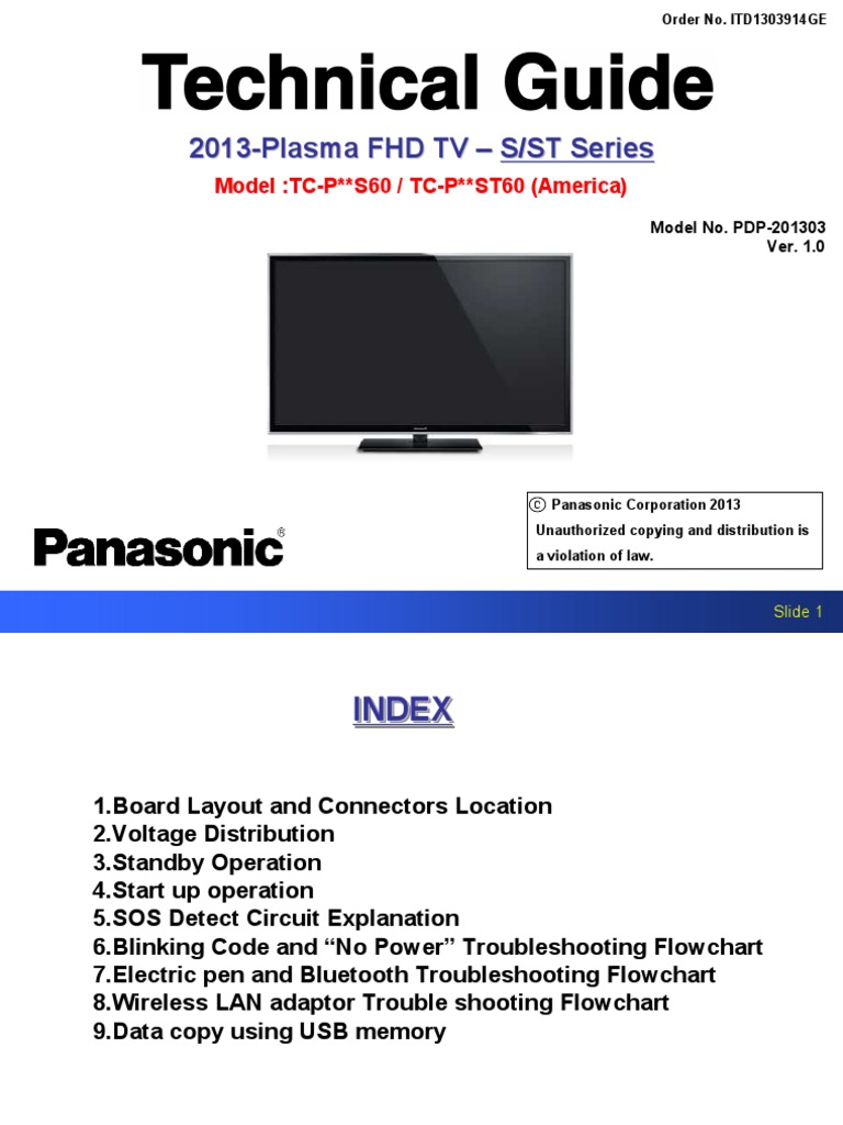 Technical Guide 2013 Plasma FHD Tv | Direct Current | Analog To Digital  Converter