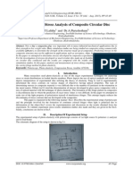 Experimental Stress Analysis of Composite Circular Disc