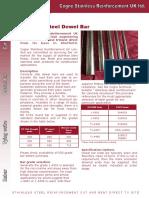 Dowel Data Sheet