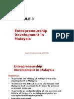 3-Entrepreneurship Development in Malaysia