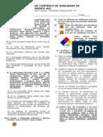 Prova de Controle de Medicamento Faba Av1 Objetiva 2014 2ºsemes