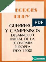 Georges Duby-Guerreros y Campesinos