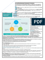 performance and development framework summary and actions