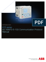 615 Series IEC 60870-5-103 Communication Protocol Manual_E