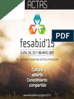 Actas FESABID 2015