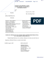Eight Mile Style, LLC et al v. Apple Computer, Incorporated - Document No. 7