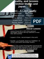 Lenovo - A Case Study. (1)