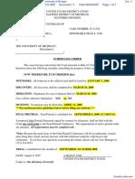 Michigan Paralyzed Veterans of America v. University of Michigan - Document No. 11