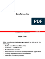Oracle Cash ForeCasting