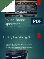Sound Board Operation