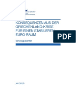 'Consequences from the Greek crisis' - German economic experts