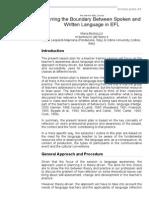Bortoluzzi - Blurring the Boundary Between Spoken and Written Language in EFL (TESL_TEFL)