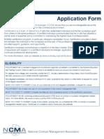 Application CCCM